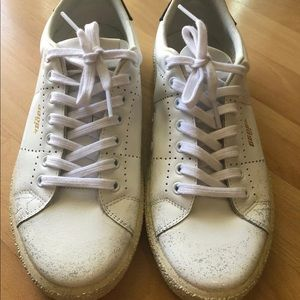 Golden goose white tennis sneakers leather size 38